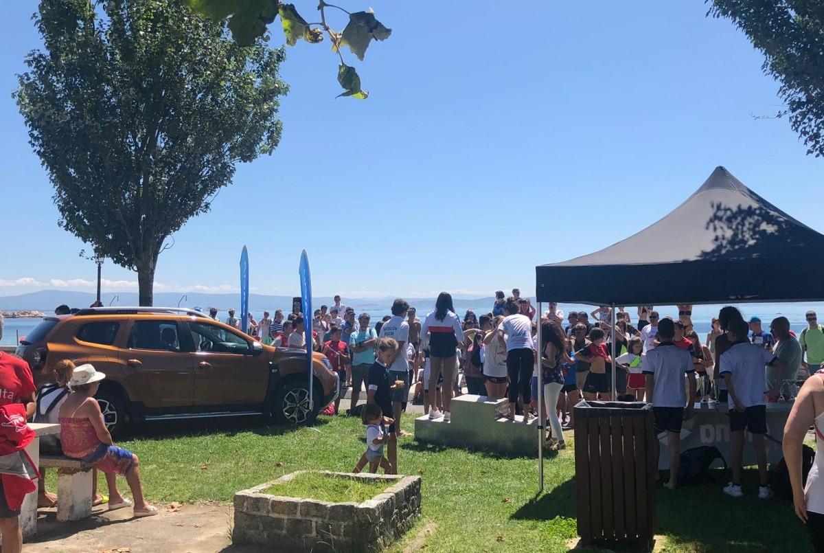 Caeiro presente en la XXVI Travesía a nado Playa de Coroso en Riveira