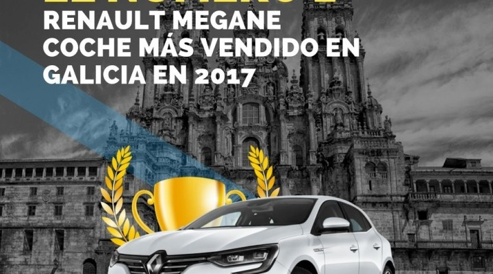 Renault Megane, coche más vendido en Galicia en 2017